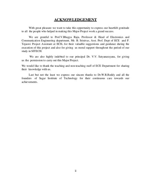 Acknowledgement Letter For Vehicle Vehicle Tracking System Using Gps And Gsm Techniques