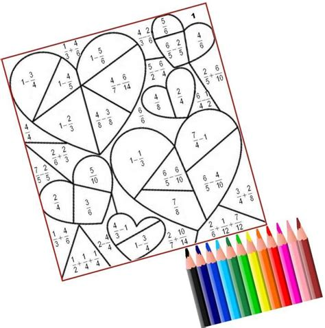 imagenes con operaciones matematicas para colorear fracciones de san valent 205 n juegos y matem 225 ticas