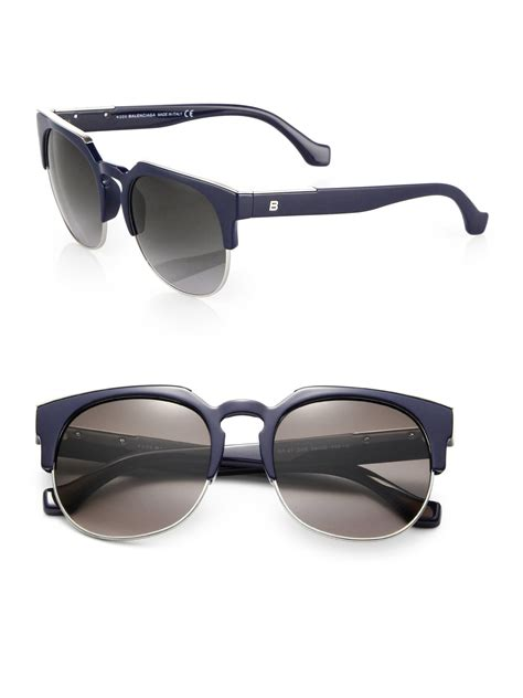Balenciaga Glasses by Lyst Balenciaga Retro Sunglasses In Blue
