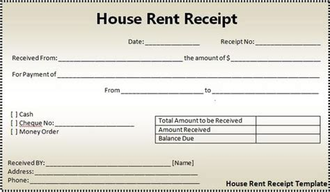 Free Rent Deposit Receipt Template by Rent Deposit Receipt Template Excel Project Management