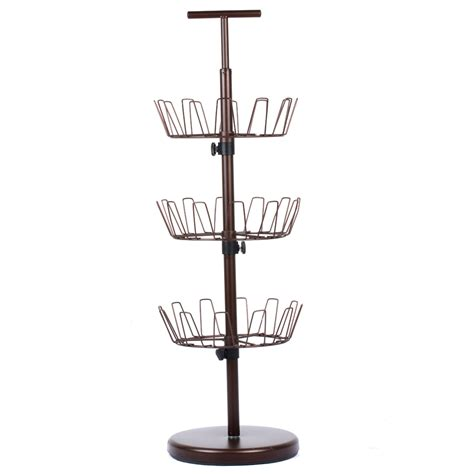 shoe tree storage 3 tier revolving shoe organizer rack shoe tree shelf