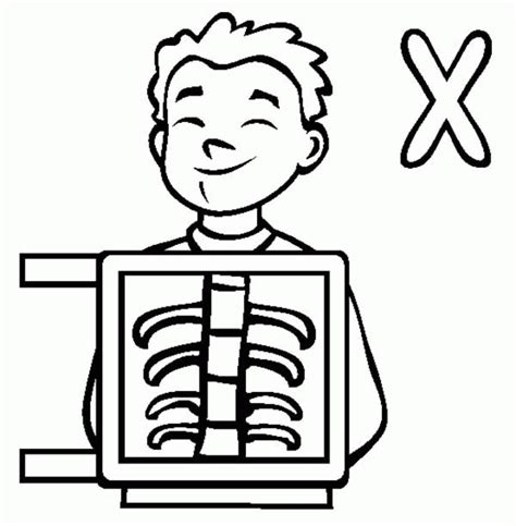 printable x rays x ray coloring page coloring home