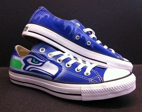 customize chuck shoes seattle seahawks custom shoes nikes chucks and cleats