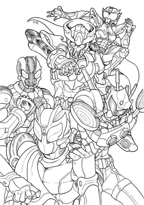 kamen rider  version coloring page netart