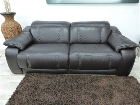 soft leather recliner softaly soft italian leather power reclining 3 seater