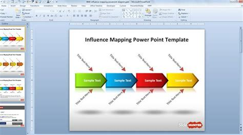 process map template powerpoint free influence mapping powerpoint template free