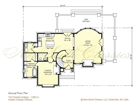 Storybook Cottage Floor Plans New South Classics Fireside Cottage