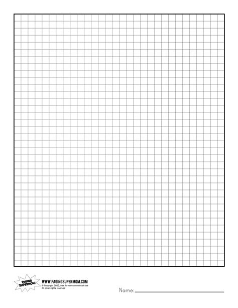 How To Make Grid Paper - printable graph paper paging supermom