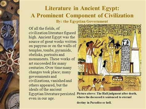 themes in egyptian literature literature in ancient egypt authorstream