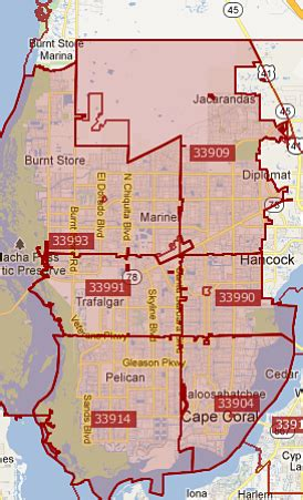 zip code map fort myers search cape coral real estate by zip code cape coral zip