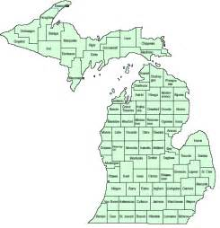 County Map Of Michigan by Map Of Michigan Counties
