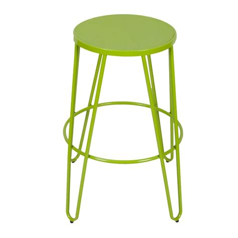 adeco green 26 inch metal counter stools set of two