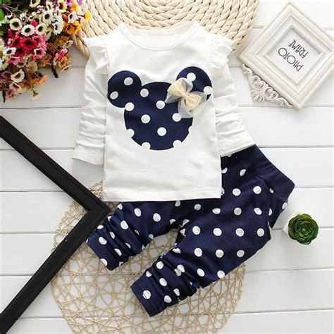 H Set Bibie Polka Kid polka dot 2 pcs clothing sets clothes t shirt