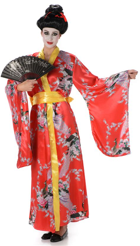 Geisha Dres 2 geisha fancy dress japanese national kimono womens costume ebay