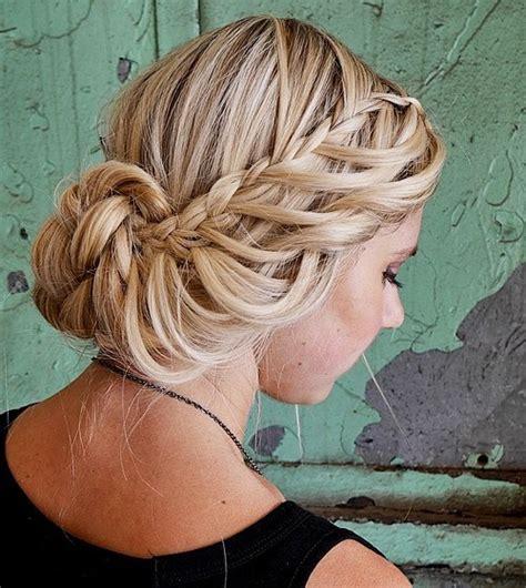 waterfall braid bun 28 diy hairstyles fall hairstyles 2017 20 autumn hair and color ideas