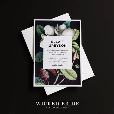 Magnolia Wedding Invitations