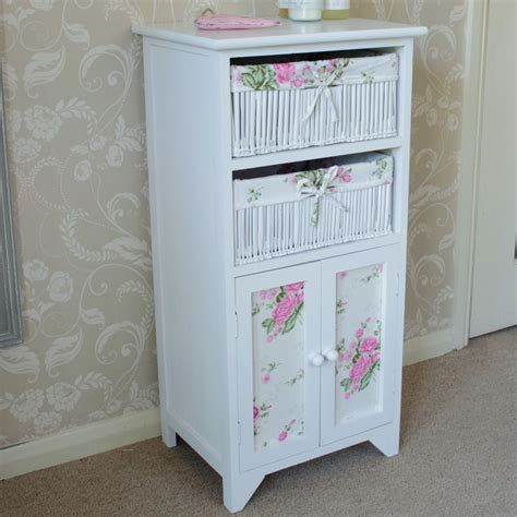 bathroom storage wicker baskets white floral wicker basket storage unit with cupboard bathroom girls bedroom ebay