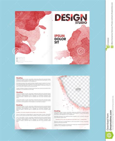 2 page flyer template two page brochure template or flyer for business stock