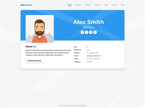 20 best wordpress resume themes for your personal website one page resume wordpress theme customer sle best