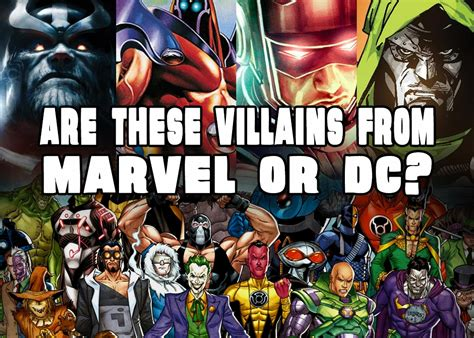 marvel film quizzes are these villains from marvel or dc