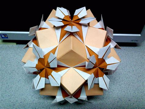Flor Origami - estrella flor origami at different angle by