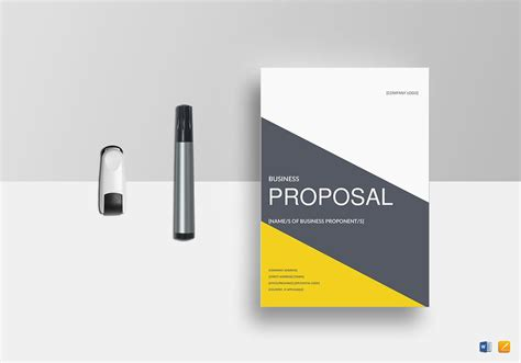 business proposal template  word google docs apple pages