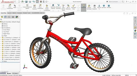 solidworks tutorial parts and assemblies solidworks tutorial design and assembly of bicycle in