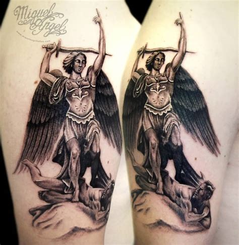 archangel michael tattoo designs cool colorful archangel michael design for arm