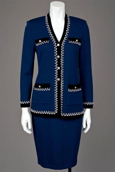 st johns knits st knits sapphire blue santana jacket skirt suit