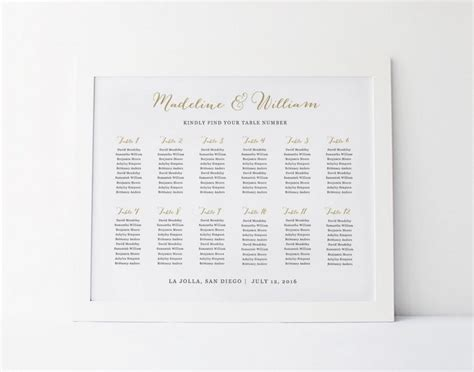 wedding seating chart template seating plan rustic