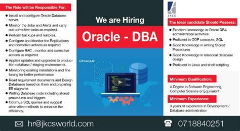 Oracle Dba Internship by Oracle Dba Vacancy In Sri Lanka