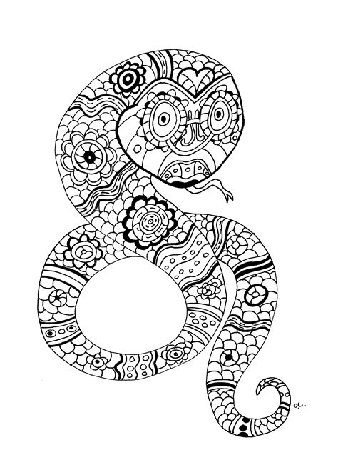 snake mandala coloring pages galerie de coloriages gratuits coloriage adulte le serpent
