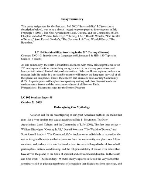 How To Write A Summary Of An Essay by Best Photos Of Exle Of A Synopsis Paper Exle Summary Paper Exles Synopsis Research