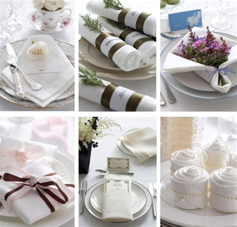 How To Fold Paper Napkins For A Wedding - wedding details folded napkin table decor