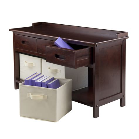 Winsome Wood Adriana Collection 4 Piece Storage Bench Set