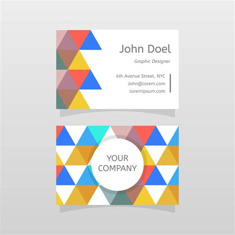 magic card template vector flat abstract graphic designer business card vector