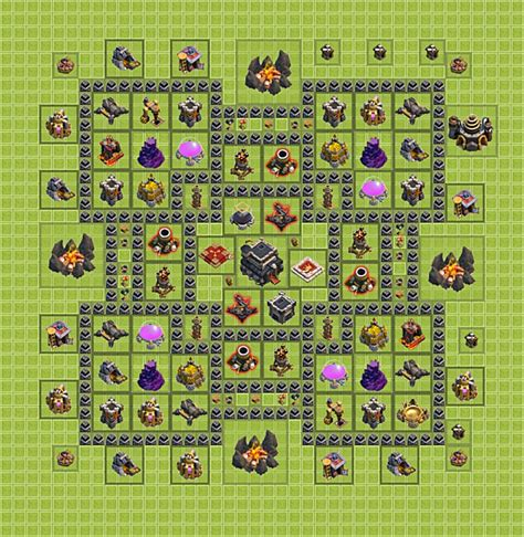 layout coc rh 9 best clash of clans th 9 trophy base car pictures