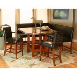 Nook Dining Room Sets Mayfair Counter Height Corner Dining Nook Set Cramco