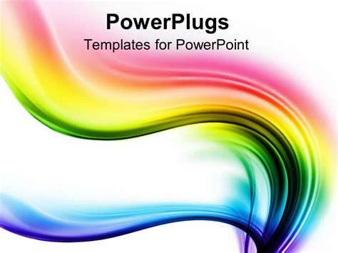 powerpoint template spectrum waves of different colors on