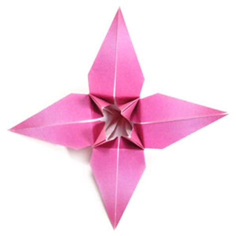 Difficult Origami Flowers - how to make a traditional origami page 1