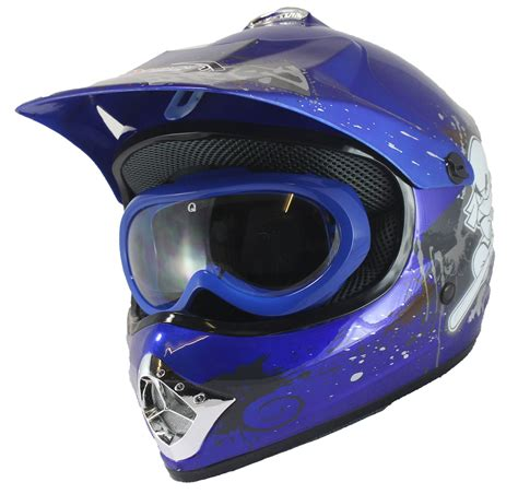 motocross helmet and goggles childrens motocross helmet goggles dirt bike