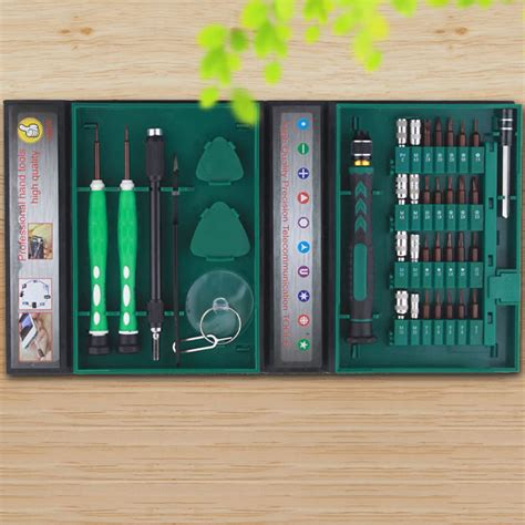 Obeng Mini Set obeng set reparasi elektronik 38 in 1 green jakartanotebook