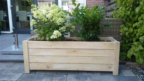 Plantenbak Maken Hout by Houten Plantenbak Rechthoek 125 X 40 X 45 Cm Bloembak Hout