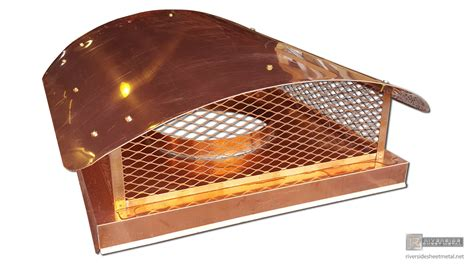 Chimney Protection - 2 stage protection copper chimney cap with roof and