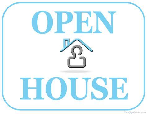 Printable Open House Sign | printable open house sign