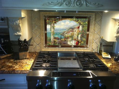 Kitchen Tile Murals Tile Backsplashes Ceramic Kitchen Backsplash Tile Mural Creative Arts