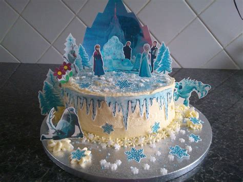 disney frozen castle wafer edible cake
