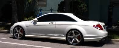 Mercedes Custom Rims White Mercedes Cl 63 With Custom Rims Cars On The