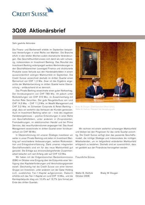 Credit Suisse Credit Letter credit suiss http www credit suisse investors doc shareholder l