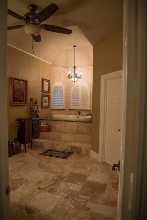 travertine bathroom remodeling project in tx west